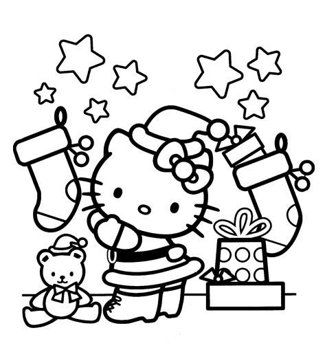 Coloriage Hello Kitty De Noel Ancenscp