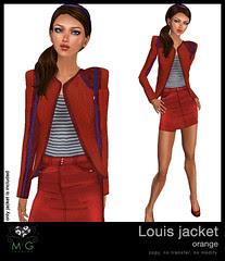 [MG fashion] Louis jacket (orange)
