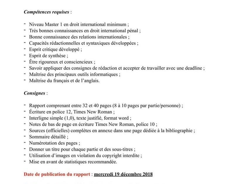 Lettre De Motivation Master 1 Droit International - Exemple de Lettre