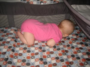 we found her like this during a nap. My brother Ty always slept like that as a baby