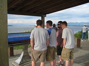 Tourists at a Cook Inlet overlook. Photo taken...
