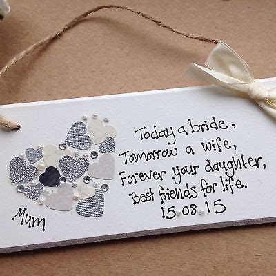 Details about personalised Gift Chic Heart Plaque Mother