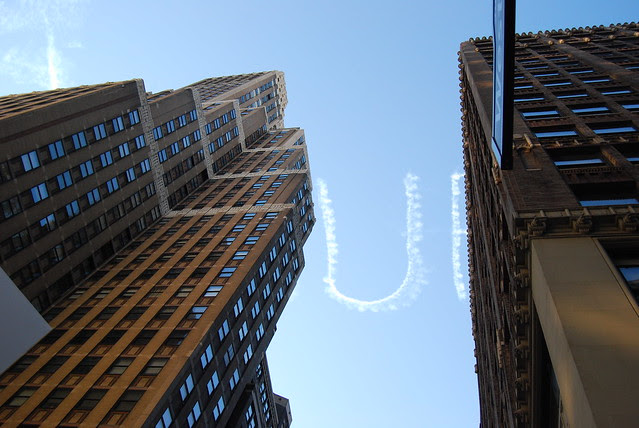 Letters in the sky, nyc