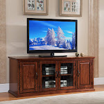 Copper Grove Jackson Creek Oak-finish Wood/ Glass 60-inch TV Stand
