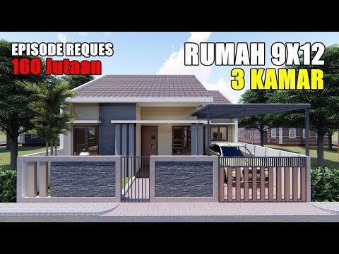 desain rumah 9x12 3 kamar tidur sederhana - sekitar rumah