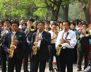 Jingshan Park band, Beijing