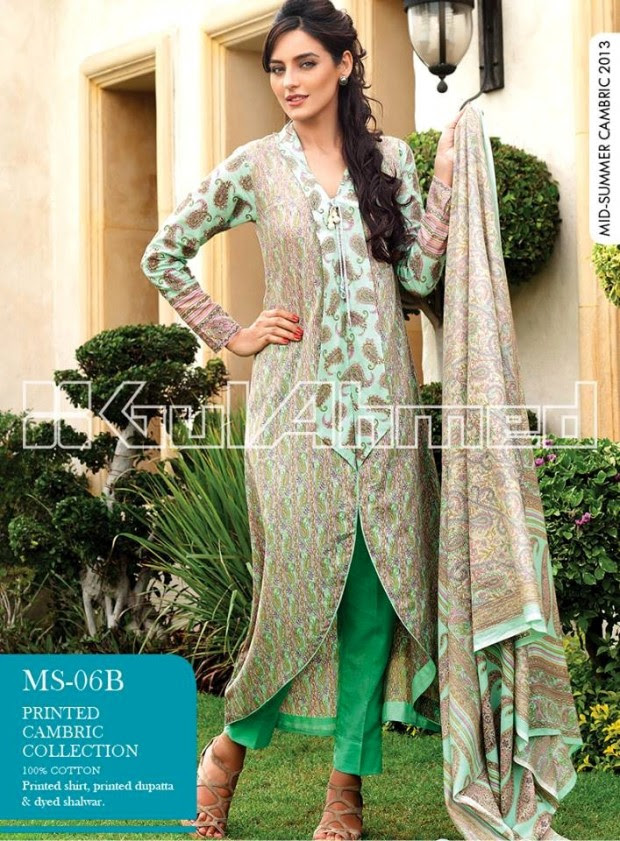Mid-Summer-Cambric-Collection-2013-Gul-Ahmed-Printed-Embroidered-Fashionable-Dress-for-Girls-Women-1