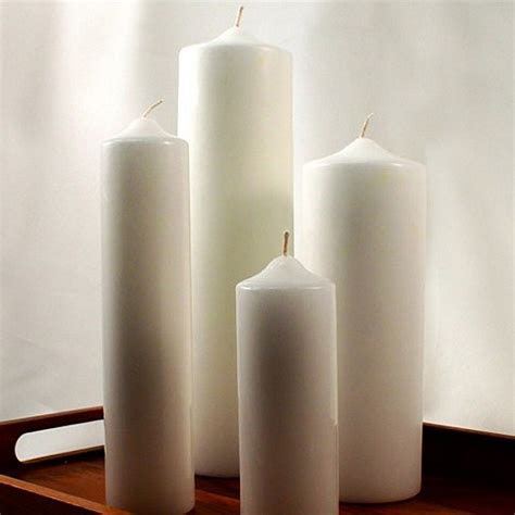 Round Pillar Candles in Assorted Sizes and Colors