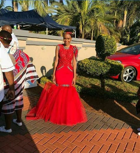 Gorgeous red bridal dress fit for a Venda Princess   South