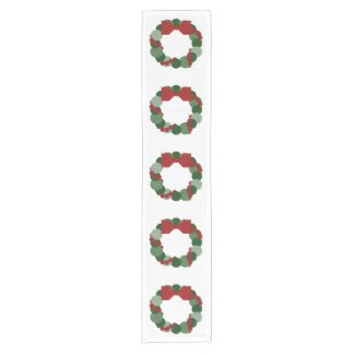 Geometric Christmas Wreath Table Runner Short Table Runner
