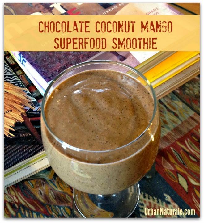 Chocolate Coconut Mango Superfood Smoothie