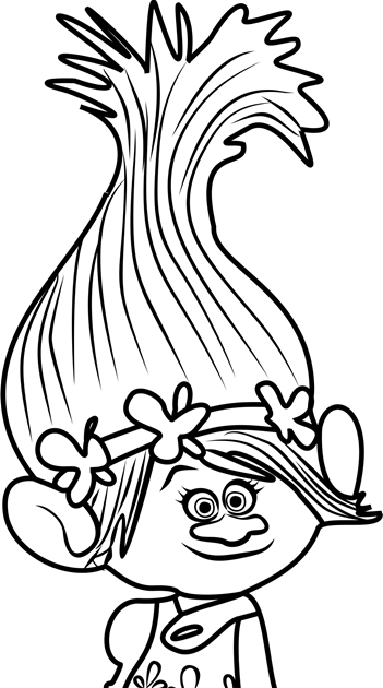 trolls coloring pages for kids - coloring our world