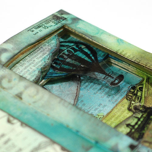 Journey - altered book detail