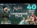 Yemunnave Pilla lyrics Telugu - Sid Sriram Lyrics