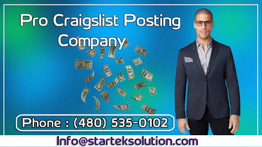 Cheap Craigslist Posting Service - The Easy Way To Grow Your Business Fast | Startek Solution