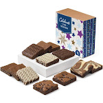 Celebrate the Season Nut-Free Dozen Gourmet Chocolate Gift Box by Fairytale Brownies