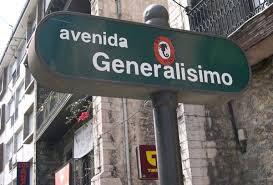 Avenida Generalísimo, en San Vicente