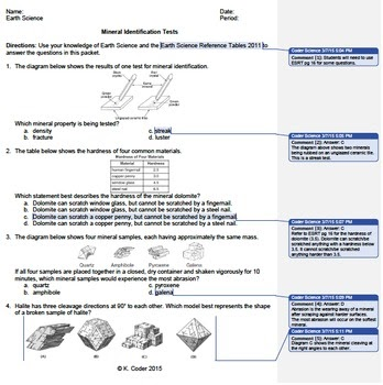 27 Mineral Identification Worksheet Answers - Worksheet ...