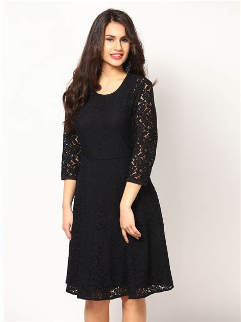 Buy Eavan Black Lace Fit & Flare Dress   379   Apparel for
