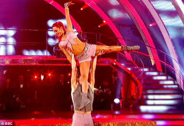 Too much going on: But the judges said maybe he and Aliona Vilani had overdone the tricks in the routine
