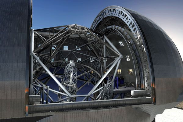 A computer-generated art concept of the European Extremely Large Telescope.