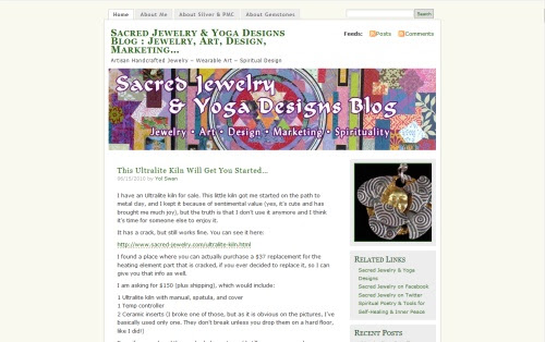 Sacred Jewelry & Yoga Designs Blog