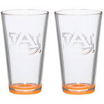 Auburn Tigers Two-Pack 16oz. Embossed Pint Glass