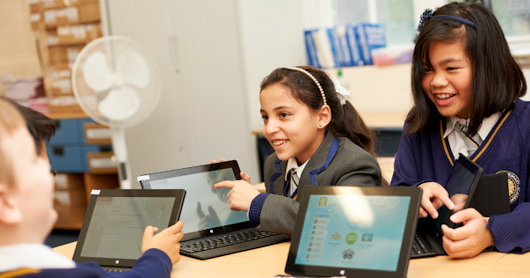White City schools chosen to join Microsoft after wowing with technology
