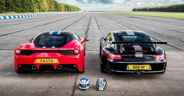 DRAG RACE: FERRARI 458 SPECIALE VS Porsche 911 GT3 RS 4.0!