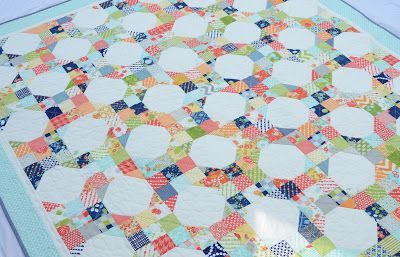 Hyacinth Quilt Designs uses Happy Go Lucky collection to make a great 2 block quilt: 9 Patch & Snowball.  Classic goodness in another great Bonnie & Camille collection.