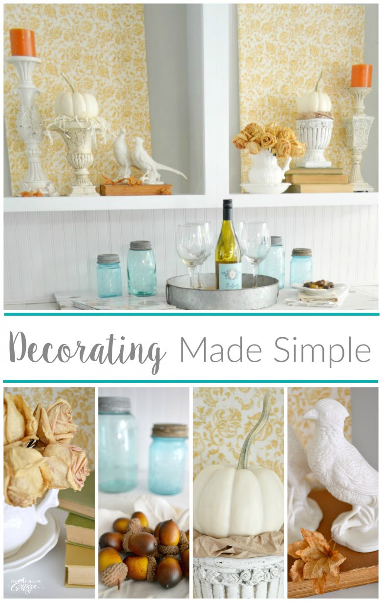 Cheap And Easy Empty Space Decorating Filler - Fox Hollow ...