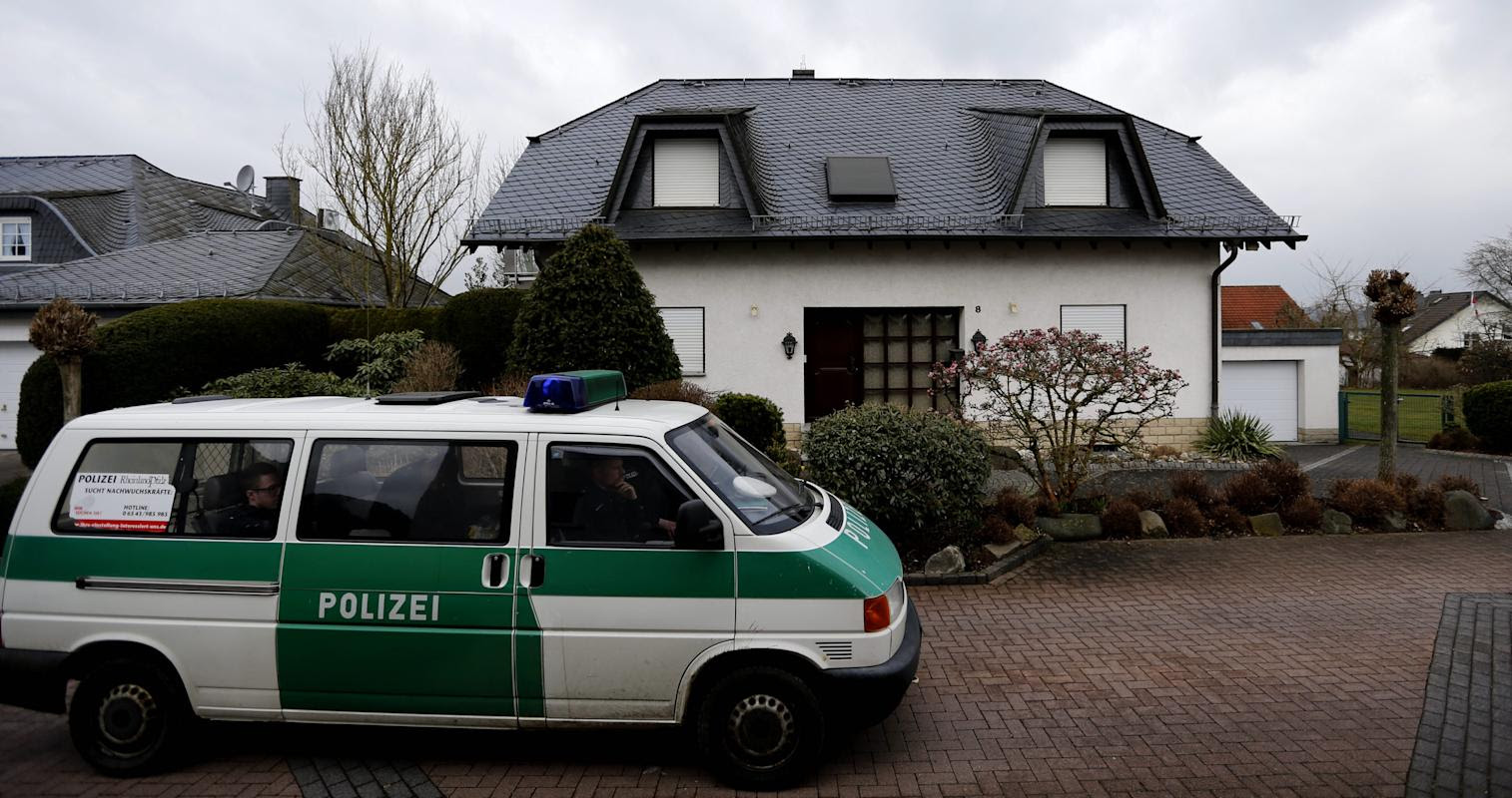 A police car waits in front of the house of the family of Andreas Lubitz in Montabaur, Germany, Friday, March 27, 2015. Lubitz was the co-pilot on the  Germanwings plane  that crashed with 150 people on board on Tuesday in the French Alps. (AP Photo Frank Augstein)
