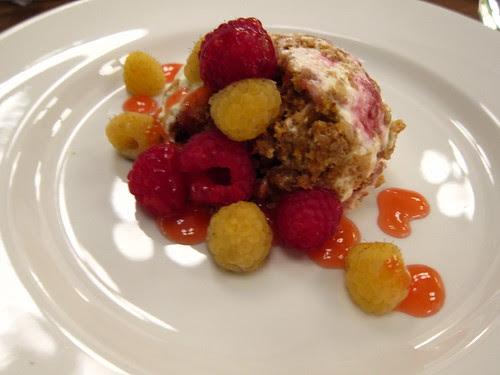 Autumn Raspberry Cheesecake