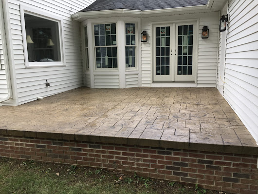 Stamped Concrete in Gates Mills,Ohio | DiFranco Contractors Inc.