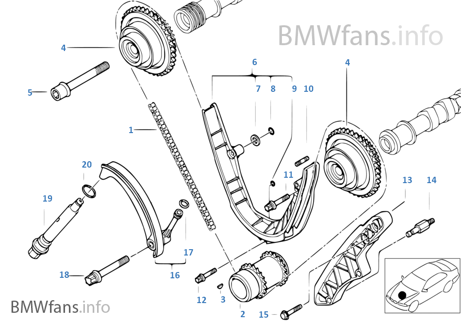 Timing Timing Chain Lower P Bmw 5 E39 540i M62 Europe