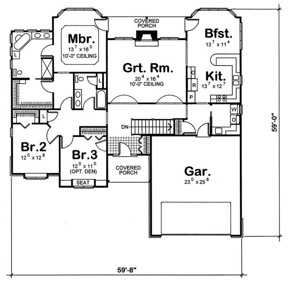 House Plan 120 1056 3 Bedroom 2100 Sq Ft Ranch