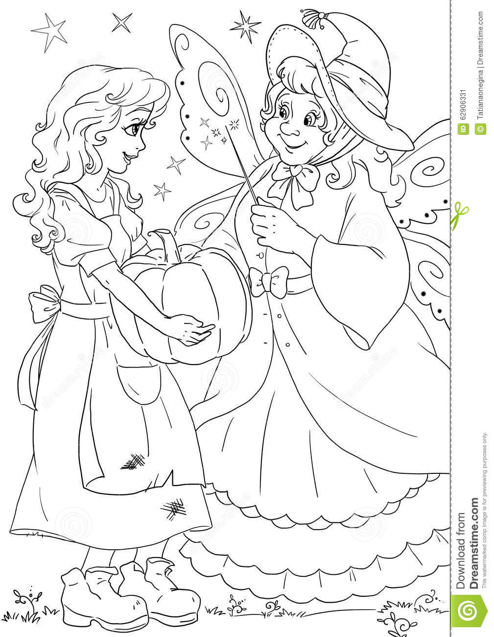 Cinderella And Fairy Godmother Stock Illustration - Image ...