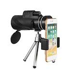 40X60 HD BAK4 Optical Lens Monocular Low Light Level Night Vision Waterproof Phone Telescope
