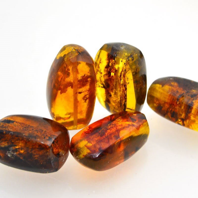 s48721 Amber Beads - Giant Nugget - Mexican Amber