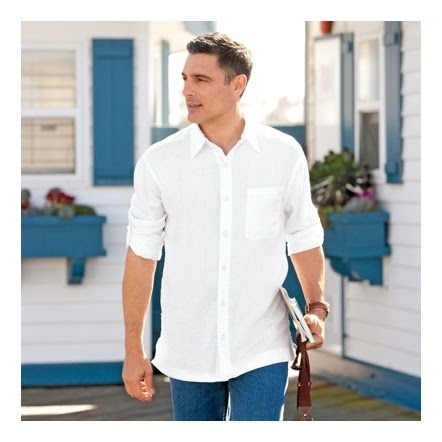 Relaxed Linen Shirt Mens's $59 NO SMALL AVAIL