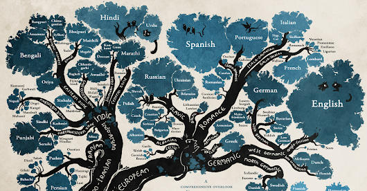 The Tree of Languages Illustrated in a Big, Beautiful Infographic