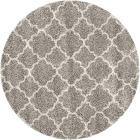 Safavieh Hudson Shag SGH282B Grey / Ivory Rug 5' x 5' Round