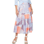 Tommy Hilfiger Womens Chiffon Printed Maxi Skirt White