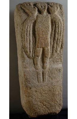 stele ou pierre tombale de saint Guirec, Bretagne