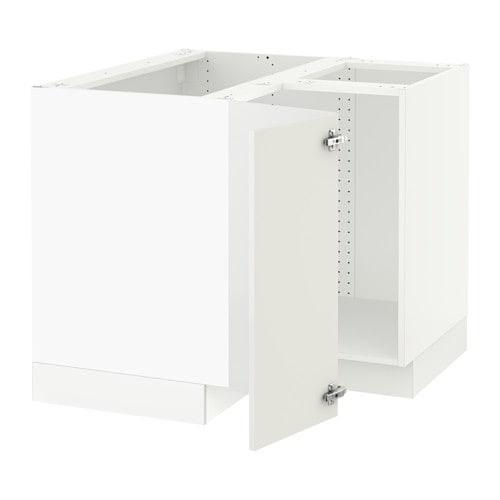 SEKTION Corner base cabinet for sink - Ringhult high gloss ...