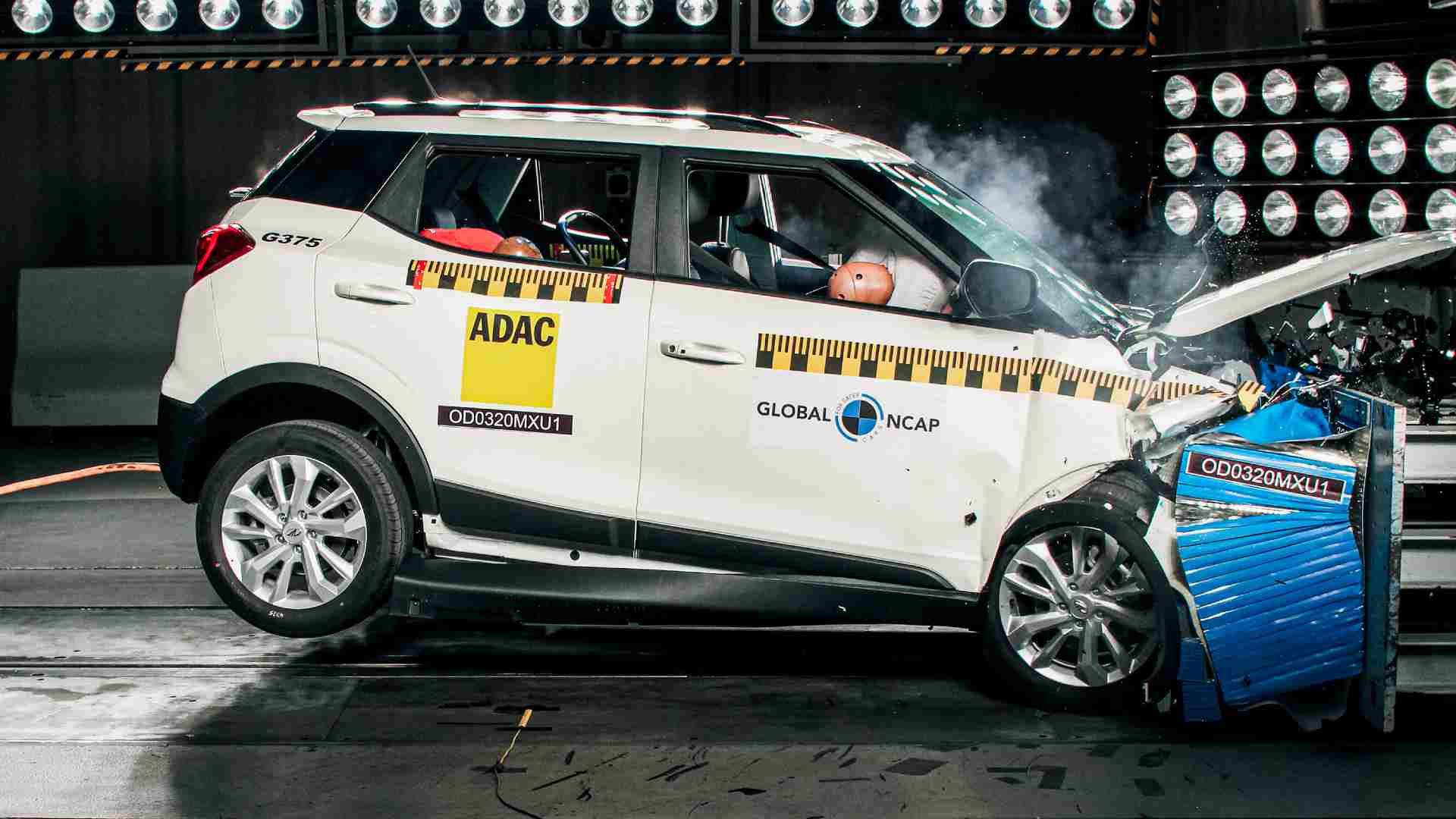 The Mahindra XUV300 has registered the highest adult occupant protection score for any made-in-India model tested by Global NCAP till date. Image: Global NCAP