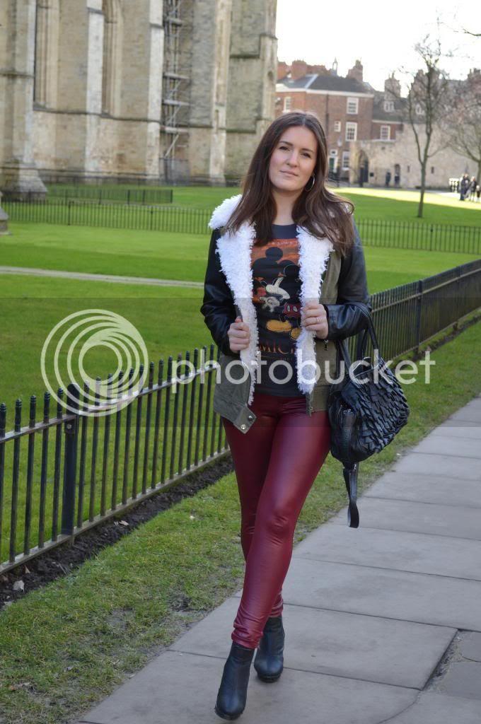 Fashion Blogger Red Disco Pants