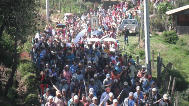 Pueblo se arma para marchar en demanda de seguridad en San Miguel Totolapan