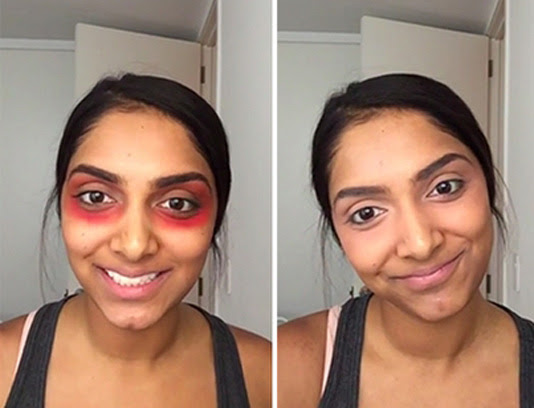 Crazy Red Lipstick Hack to Get Rid Of Dark Circles ...