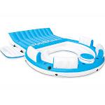 Intex 56299EP Inflatable Splash N Chill Lake Pool Island Raft Lounger, 7 adults by VM Express